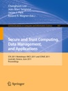 Secure And Trust Computing Data Management And Applications