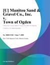U Manitou Sand  Gravel Co