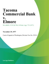 Tacoma Commercial Bank V. Elmore