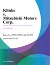 Klinke V Mitsubishi Motors Corp