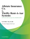 Allstate Insurance Co V Thrifty Rent-A-Car Systems