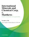 International Minerals And Chemical Corp V Matthews