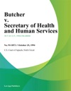 Butcher V Secretary Of Health And Human Services