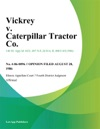 Vickrey V Caterpillar Tractor Co