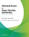 Mitchell Keitz V State Florida