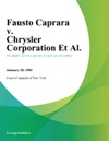 Fausto Caprara V Chrysler Corporation Et Al