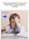 The Saligman Guide To Writing A Research Paper