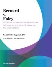 Bernard V. Foley