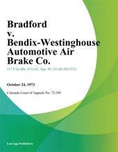 Bradford v. Bendix-Westinghouse Automotive Air Brake Co.