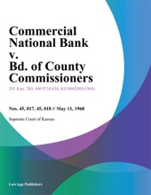 Commercial National Bank v. Bd. of County Commissioners