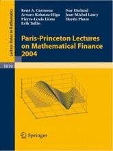 Paris-Princeton Lectures On Mathematical Finance 2004