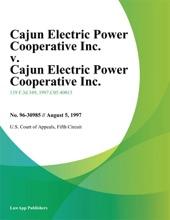 Cajun Electric Power Cooperative Inc. v. Cajun Electric Power Cooperative Inc.