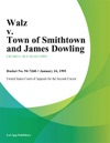 Walz V Town Of Smithtown And James Dowling
