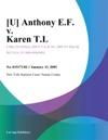 U Anthony EF V Karen TL