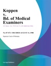 Koppen V Bd Of Medical Examiners