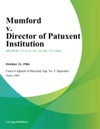 Mumford V Director Of Patuxent Institution
