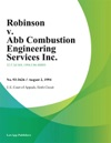 Robinson V Abb Combustion Engineering Services Inc