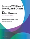 Lessee Of William A Powell And Others V John Harman