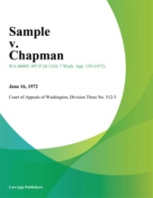 Sample V. Chapman