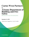 Cactus Wren Partners V Arizona Department Of Building And Fire Safety