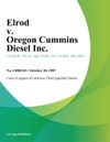 Elrod V Oregon Cummins Diesel Inc