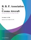 B B P Association V Cessna Aircraft