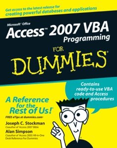 Access 2007 VBA Programming For Dummies da Joseph C. Stockman & Alan Simpson