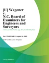 Wagoner V NC Board Of Examiners For Engineers And Surveyors