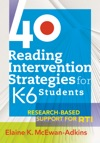 40 Reading Intervention Strategies For K6 Students