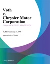 Voth V Chrysler Motor Corporation