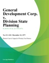 General Development Corp V Division State Planning
