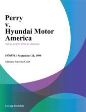 Perry v. Hyundai Motor America