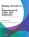 Boeing Aircraft Co V Department Of Labor And Industries