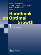 Handbook On Optimal Growth 1