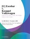 U Escobar V Koeppel Volkswagen