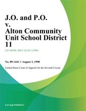J.O. And P.O. V. Alton Community Unit School District 11