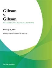 Gibson v. Gibson