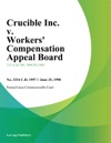 Crucible Inc V Workers Compensation Appeal Board