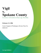 Vigil V. Spokane County