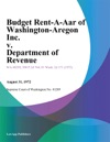 Budget Rent-A-Car Of Washington-Oregon Inc V Department Of Revenue