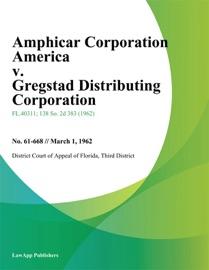 AMPHICAR CORPORATION AMERICA V. GREGSTAD DISTRIBUTING CORPORATION
