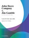 John Deere Company V Jim Gamble