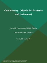 Commentary (Muscle Performance And Swimmers)