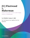 U Fleetwood V Haberman