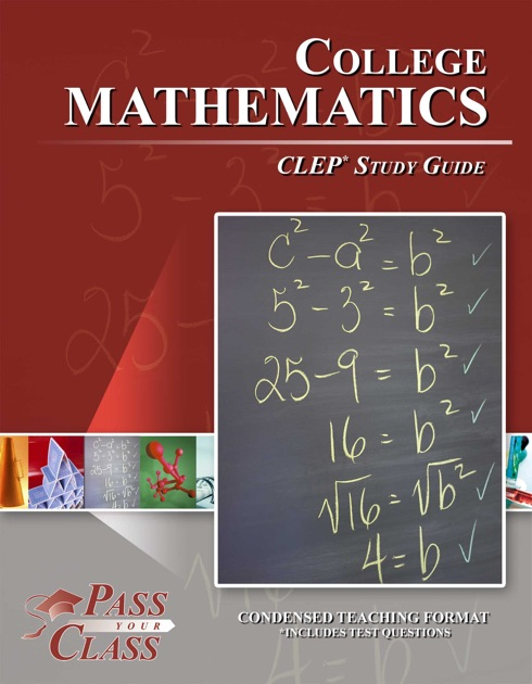 college mathematics clep study guide by pass your class on apple books rh itunes apple com clep study guides online clep study guide reviews