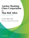 Anchor Hocking Glass Corporation V Mae Bell Allen
