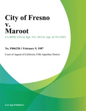 Download and Read Online City of Fresno v. Maroot