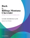 Buck V Billings Montana Chevrolet