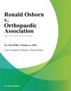Ronald Osborn V Orthopaedic Association