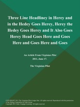 Three Line Headliney in Herey and in the Hedey Goes Herey, Herey the Hedey Goes Herey and It Also Goes Herey Head Goes Here and Goes Here and Goes Here and Goes